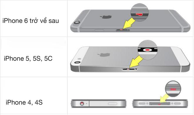 Mẹo nhỏ để biết iPhone đã bị vào nước hay chưa