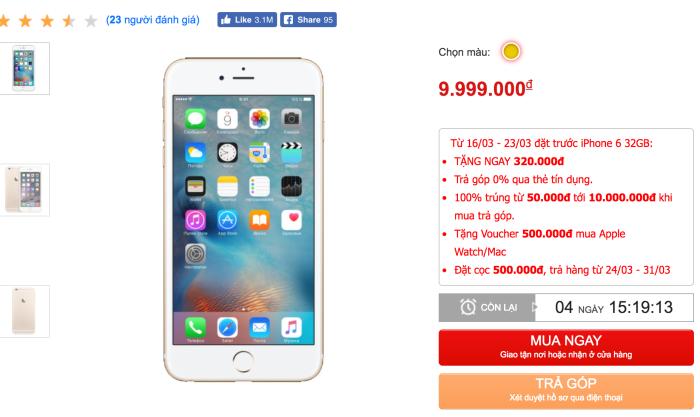 iPhone 6 bản 32 GB đã có mặt tại Việt Nam - 179313